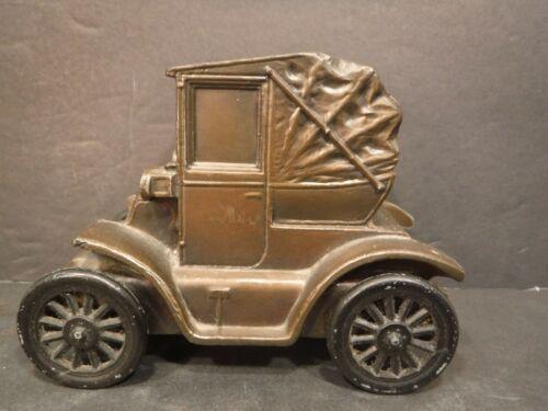 Vintage 1900 Buick Coupe Convertible Car Metal Coin Bank