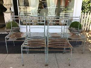 Set of 6 Rustic French Vintage Metal Outdoor Chairs Richmond Hawkesbury Area Preview