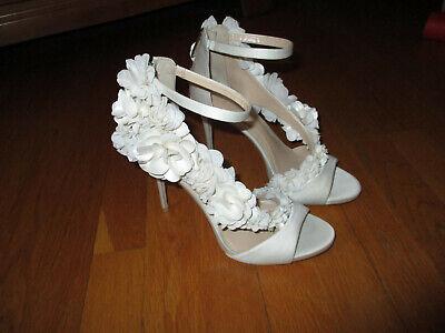 Imagine Vince Camuto Daphne Ivory 3D Flowers Floral Stiletto Heels Formal 7.5M