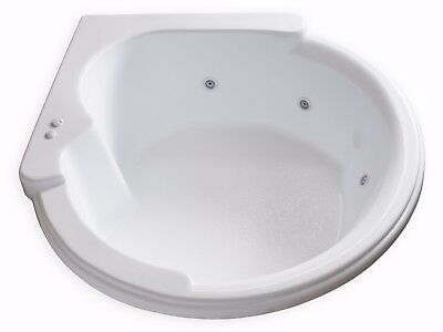 Carver CW6464 Circle Corner Whirlpool Bathtub with 6 White Jets for sale  Grandview