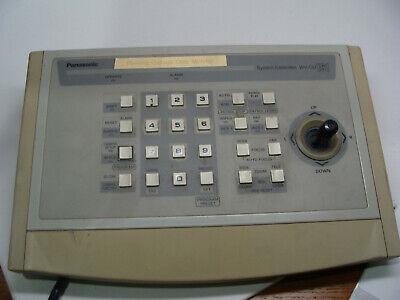 Panasonic Controller System Model Wv-cu161 Single Channel Ptz Camera