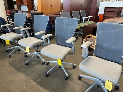 Executive Chair By Haworth Zody In Gray Color Fully Loaded Chair