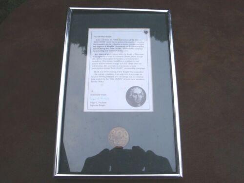 Knights of Columbus 500th Anniversary Christopher Columbus Bronze Medallion