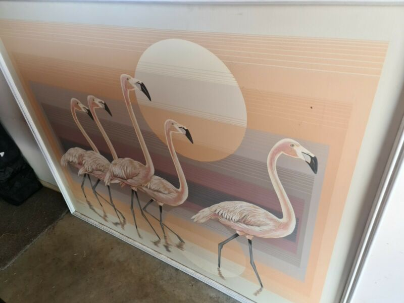 Letterman Flamingo Painting