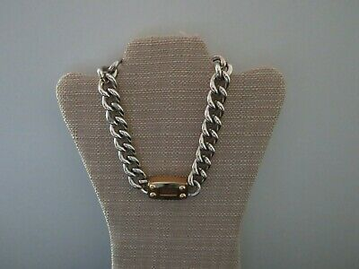 """New Old Stock"" Vintage Gucci Style Link 24kt Gold Electroplated 15"" Necklace"