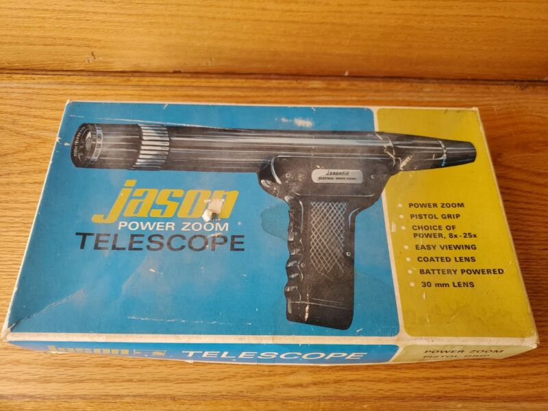 Vintage Jason Telescope 1968 Battery Power Zoom 8 to 25 power, 30MM lens, Used