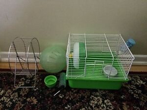 Hamster cage and accessories $15 obo