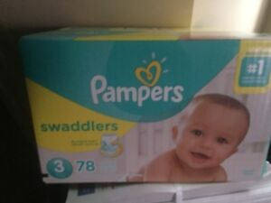 Pampers swaddlers- size 3- 78 diapers