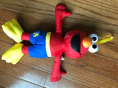 Sesame Street Bath Time Elmo Plush Stuffed Animal Nylon Soft Tub Toy Hasbro 2014