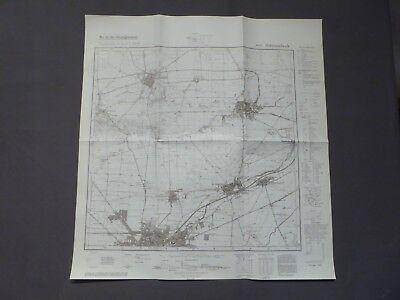 Landkarte Meßtischblatt 4032 Schwanebeck, Eilenstedt, Halberstadt (Nord) um 1945