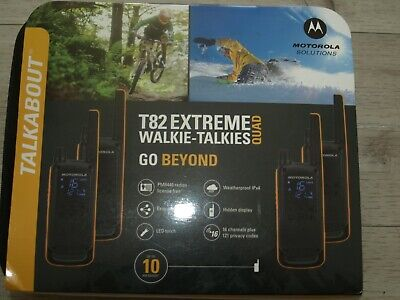 Motorola Talkabout T82 Extreme Quad Pack Brand-New