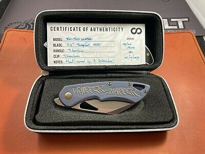 Olamic Whipper Snapper Prototype 8/20 M390 Hand Carved By A.Kalenikov New In Box