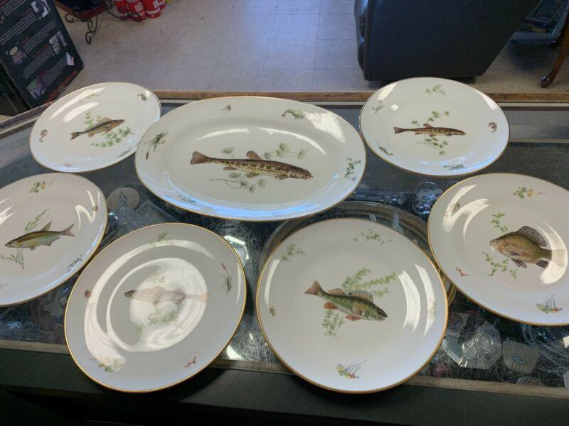 Richard Ginori 7 Piece Italian Fish Set