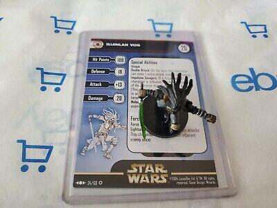 Star Wars Miniatures Quinlan Vos & Card
