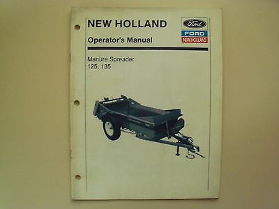 Ford - New Holland 125 135 Manure Spreader Operators Manual