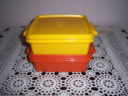 Tupperware Retro Vintage Tuppercare Square Containers Lunchbox East Cannington Canning Area Preview