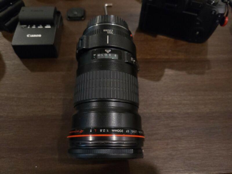 Canon 2529A004 EF 200mm f/2.8L II USM Telephoto Fixed Lens - Black