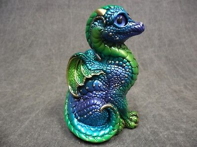 Windstone Editions New * Emerald Peacock Baby Dragon * Statue Figurine Figure](Baby Peacock Name)