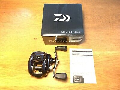 Daiwa LEXA-LC400H Lexa-LC 6.3:1 Line Counter Baitcast Right Hand Fishing Reel Daiwa Line Counter Reels
