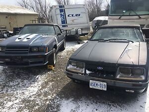 2 for 1    1985 Ford Mustang GT conv