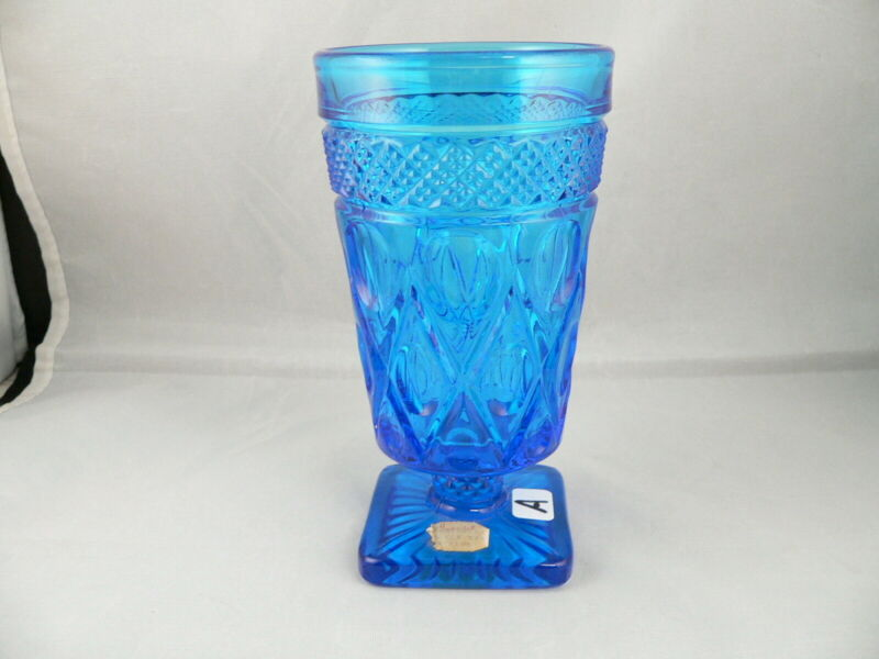 CAPE COD BLUE TUMBLER #1602----IMPERIAL GLASS COMPAY-----HARD TO FIND, tumbler#a