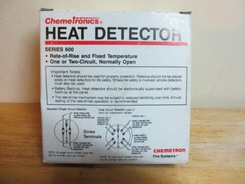 Chemetronics 600 Series Heat Detector 601 Rate of Rise & Fixed Temp 135°F New