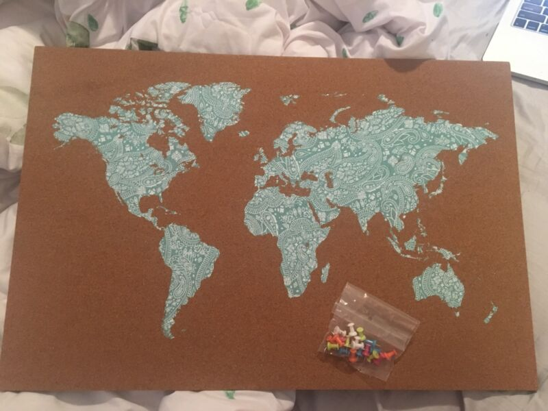 A2 world map cork board decorative accessories gumtree australia a2 world map cork board bentleigh glen eira area image 2 1 of 2 gumiabroncs