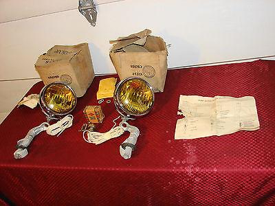 30s 40s 50s VINTAGE NOS B-L-C FOG LAMPS 5 3/4 2002-C GUIDE CHEVROLET GMC BUICK