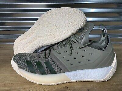 Adidas James Harden Vol.2 Basketball Shoes Trace Cargo Green Cream SZ ( AQ0027 )