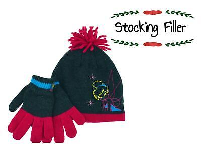 Girls Tinkerbell Hat and Gloves Set 4-8 Years Great Stocking Filler