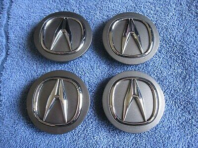 Set of 4 OEM GREY Acura RSX RL TL MDX RDX TSX ILX TLX center caps 2 3/4""