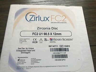 Zirlux Zirconia Disc Henry Schein - Size 98.5x12mm - Shade U1