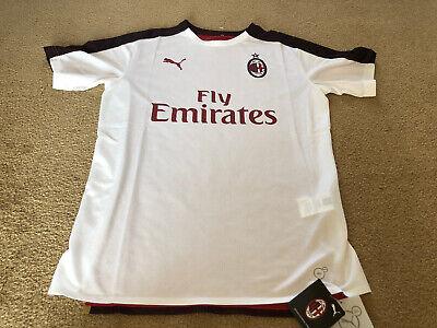 BNWT AC Milan Puma Soccer Jersey Mens Size Medium White