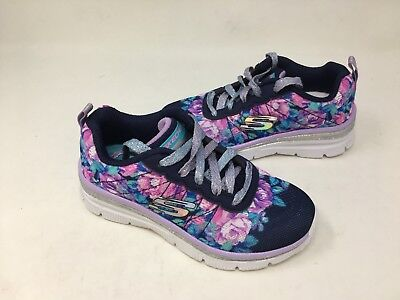 Fancy Girls Shoes (NEW! Skechers Youth Girls FLEETING FANCY Casual Shoes Nvy/Lav/Wht #81614 25P1)
