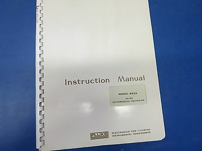 Fluke Model 883a Acdc Differential Voltmeter Instruction Manual