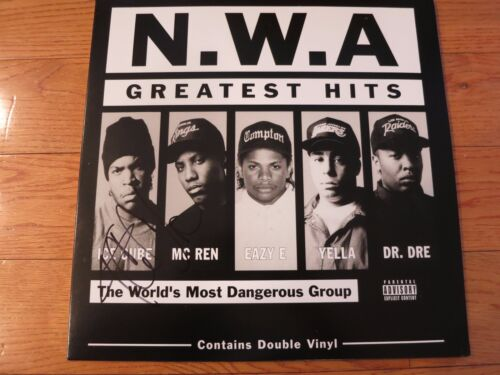 Ice Cube signed album coa + Proof! NWA autographed lp Comptons in the house!