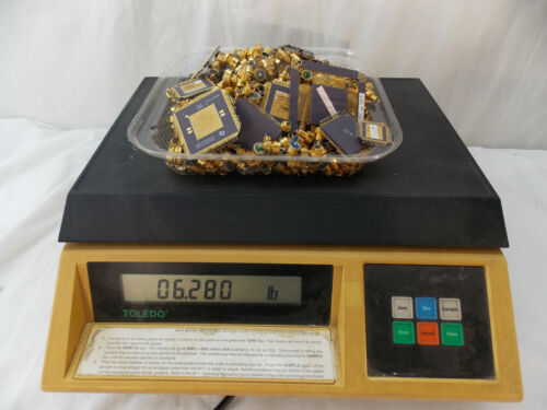 6.280 Pounds High Grade Gold Plated Scrap,Mil-Spec Parts for Gold Recovery