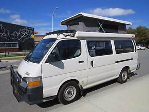 2000 Toyota HiAce Poptop, Petrol/LPG,  Solar panels Darch Wanneroo Area Preview