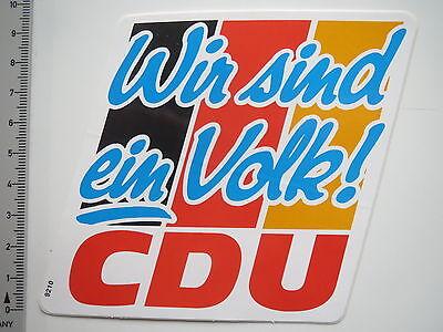 Christliche Partei (Aufkleber Sticker CDU - Christliche Union - Politik - Partei (6951))