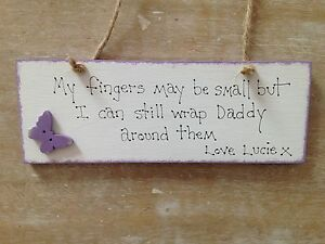 Shabby-Chic-Personalised-Wooden-Fathers-Day-Daddy-gift-Hand-painted-Butterfly