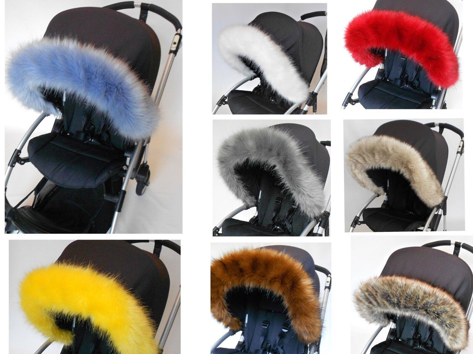 fur for babies pram SUPER SOFT Baby Blue pram hood fur FAUX FUR HOOD TRIM
