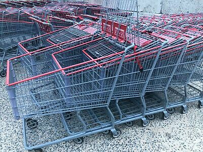 Xl Shopping Carts Used Grey With Red Trim - No Shipping Offered