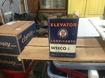 Vintage Westinghouse Electric Corp. Lubricant Elevator