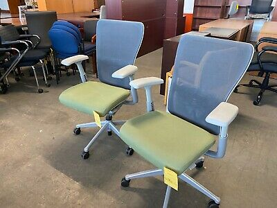 Executive Chair By Haworth Zody In Light Green Color Fully Loaded Chair
