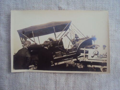 3 1/2 x 5 1/2  B&W Photo Snapshot Packard Car Delivery ca 1910-20