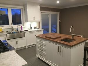Custom butcher block counter tops
