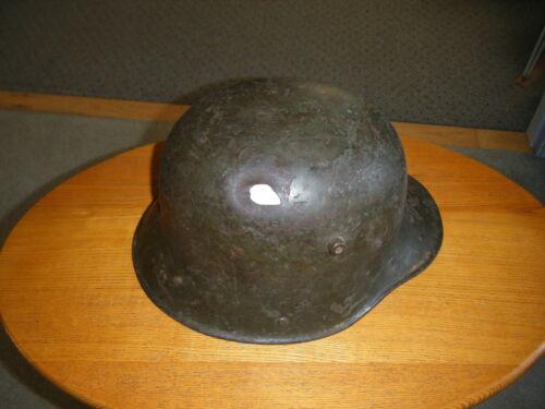 George Jarrett Museum - German 1916 Battle Damaged Relic Helmet with Provenance