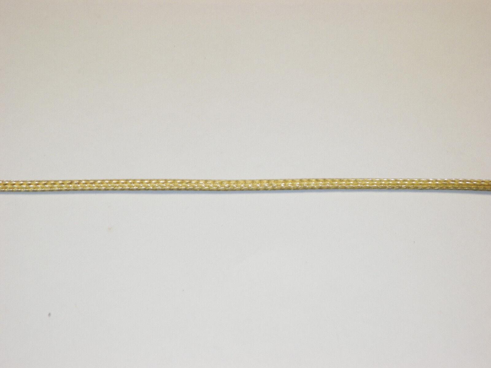 BRAIDED BRASS EXPANDABLE Flex Sleeve Wiring Harness Loom Flexable ...