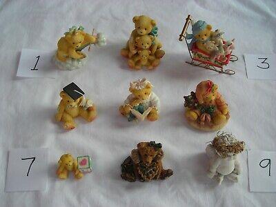 9 Ceramic/Resin Cherished Teddies/Boyds Bears/Cast Art Figurines (Cherish Ceramic)