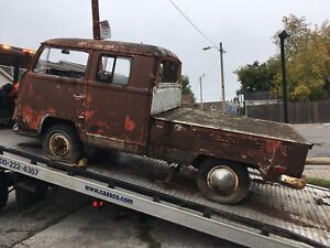 1970 vw type 2 double cab pickup truck